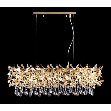 Подвесная люстра Crystal Lux ROMEO SP8 GOLD L1000 2831/308, 8xE14x60W, золото, прозрачный, металл, хрусталь