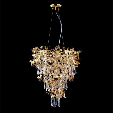 Подвесная люстра Crystal Lux ROMEO SP10 GOLD D600 2831/310, 10xE14x60W, золото, прозрачный, металл, хрусталь