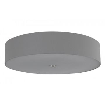 Потолочный светильник Crystal Lux JEWEL PL700 GR 2111/108, 8xE27x60W, хром, белый, серый, металл, стекло, текстиль