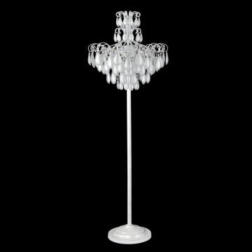 Торшер Crystal Lux SEVILIA PT4 SILVER 2941/604, 4xE14x40W, белый с серебряной патиной, серебро, металл, стекло