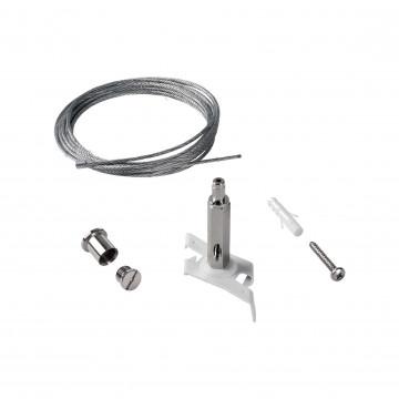 Крепление для подвесного монтажа шинной системы Ideal Lux Link Trimless Kit Pendant No Rosone 243245, белый, металл