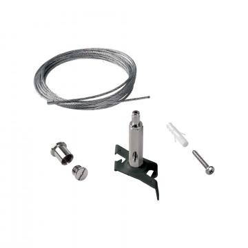 Крепление для подвесного монтажа шинной системы Ideal Lux Link Trimless Kit Pendant No Rosone 243283, черный, металл
