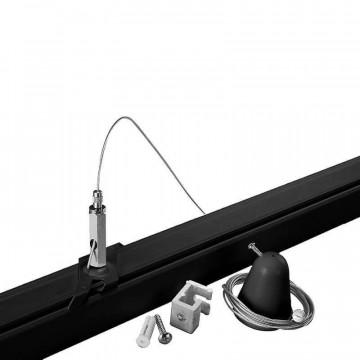 Крепление для подвесного монтажа шинной системы Ideal Lux Link Trimless Kit Pendant No Rosone 243238, черный, металл