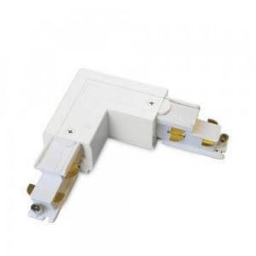 L-образный левый соединитель для шинопровода Ideal Lux Link Trimless L-Connector 246604, белый, металл