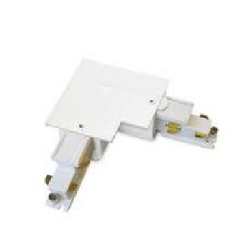 L-образный левый соединитель для шинопровода Ideal Lux Link Trim L-Connector 255996, белый, металл