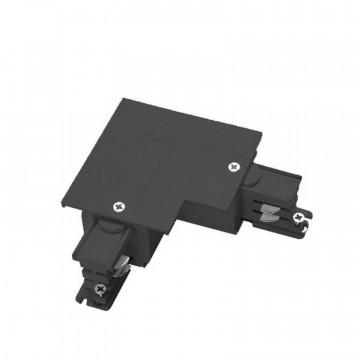 L-образный левый соединитель для шинопровода Ideal Lux Link Trim L-Connector 256030, черный, металл