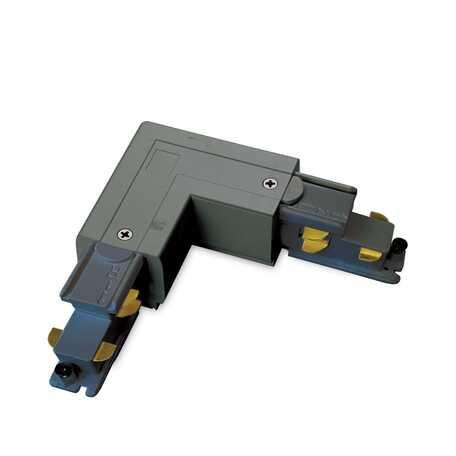 L-образный левый соединитель для шинопровода Ideal Lux Link Trimless L-Connector 246598, черный, металл