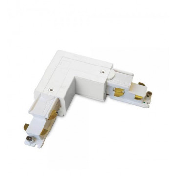 L-образный правый соединитель для шинопровода Ideal Lux Link Trimless L-Connector 246628, белый, металл - миниатюра 1