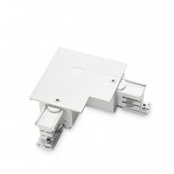 L-образный правый соединитель для шинопровода Ideal Lux Link Trim L-Connector 256061, белый, металл