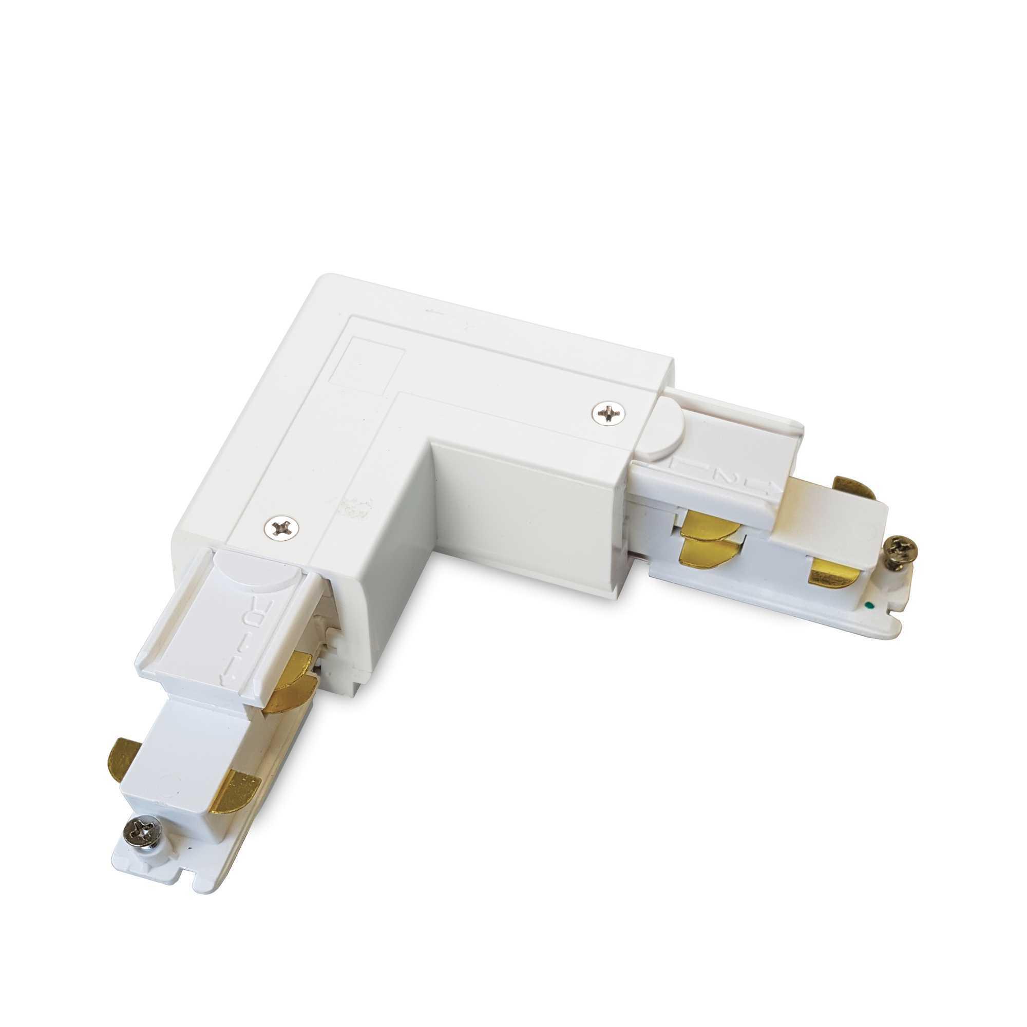 L-образный правый соединитель для шинопровода Ideal Lux Link Trimless L-Connector 246628, белый, металл - фото 1