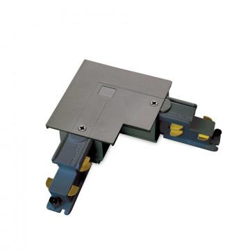 L-образный правый соединитель для шинопровода Ideal Lux Link Trim L-Connector 256047, черный, металл