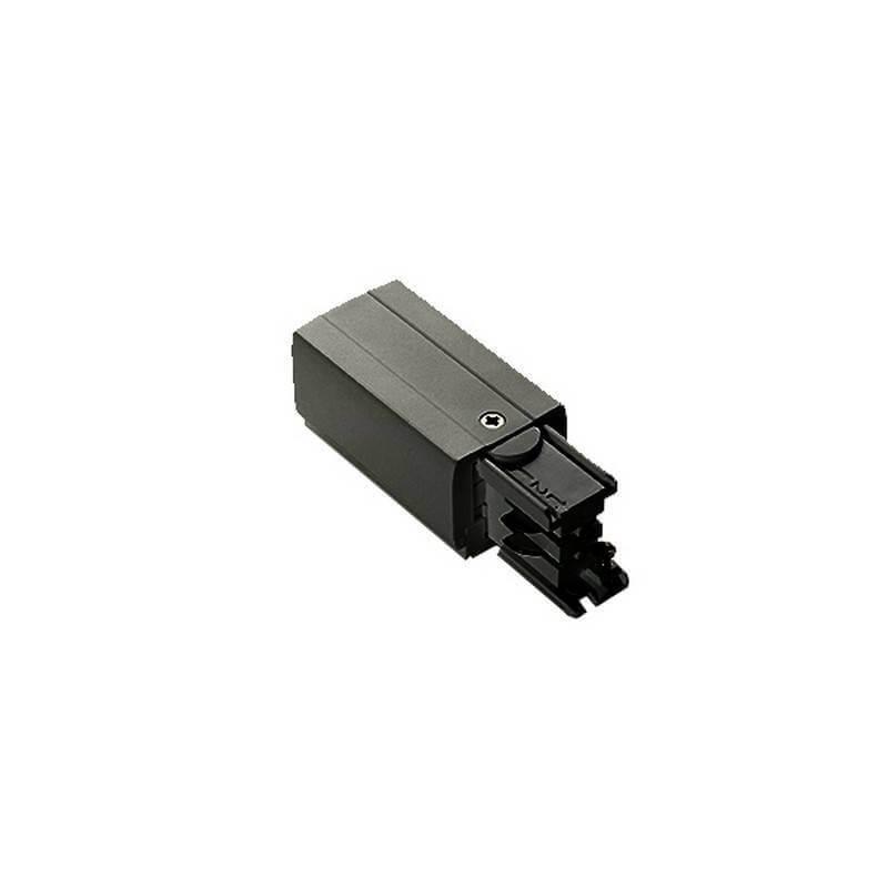 Левый подвод питания для шинной системы Ideal Lux Link Trimless Main Connector 246512, черный, металл - фото 1
