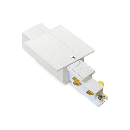 Левый подвод питания для шинной системы Ideal Lux Link Trim Main Connector 256085, белый, металл