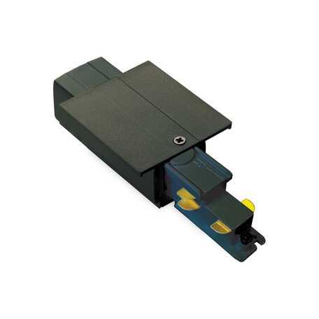 Левый подвод питания для шинной системы Ideal Lux Link Trim Main Connector 256078, черный, металл