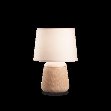 Настольная лампа Ideal Lux Kali'-2 TL1 245331, 1xE14x40W, медь с белым, белый, керамика, текстиль