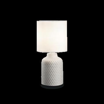 Настольная лампа Ideal Lux Kali'-3 TL1 245393, 1xE14x40W, белый с золотом, белый, керамика, текстиль
