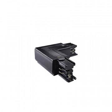 Правый подвод питания для шинной системы Ideal Lux Link Trimless L-Connector 246611, черный, металл