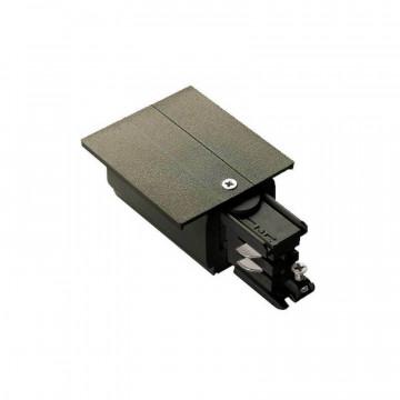 Правый подвод питания для шинной системы Ideal Lux Link Trim Main Connector 256122, черный, металл