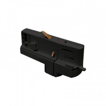Прямой соединитель для шинопровода Ideal Lux Link Track Connector 246499, черный, металл