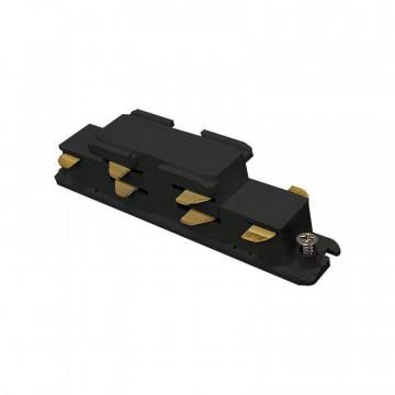 Прямой соединитель для шинопровода Ideal Lux Link Electrified Connector 246550, черный, металл
