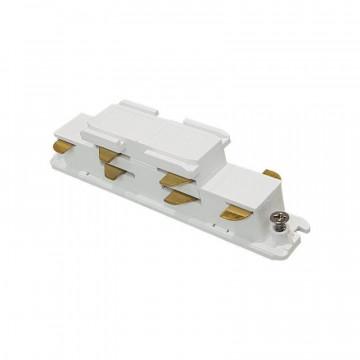 Прямой соединитель для шинопровода Ideal Lux Link Electrified Connector 246567, белый, металл