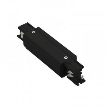Прямой соединитель для шинопровода Ideal Lux Link Trimless Main Connector 246574, черный, металл