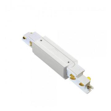 Прямой соединитель для шинопровода Ideal Lux Link Trimless Main Connector 246581, белый, металл
