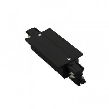 Прямой соединитель для шинопровода Ideal Lux Link Trim Main Connector 256092, черный, металл