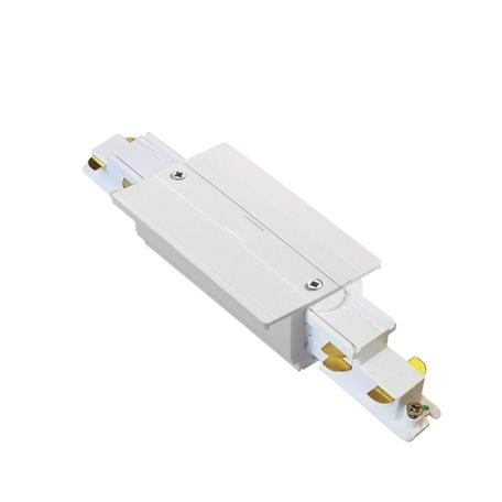 Прямой соединитель для шинопровода Ideal Lux Link Trim Main Connector 256115, белый, металл