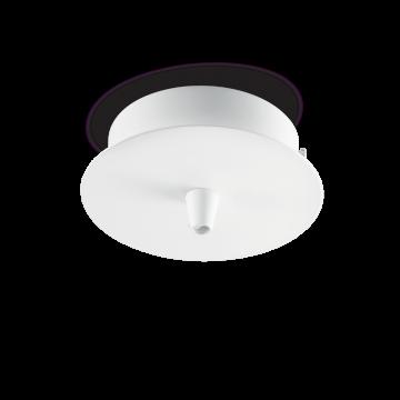 База для подвесного монтажа светильника Ideal Lux ROSONE METALLO 1 LUCE ROUND BIANCO 122823, белый, металл