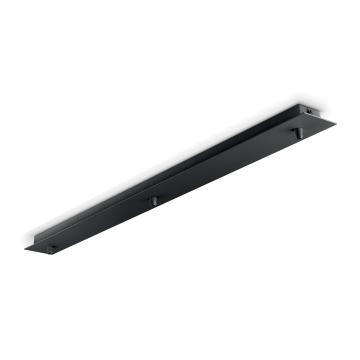 База для подвесного монтажа светильника Ideal Lux ROSONE METALLO 3 LUCI NERO 123301, черный, металл