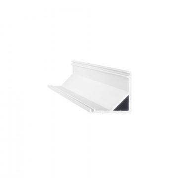 Ideal Lux SLOT SURFACE ANGOLO 1000 mm AL 126531 (SLOT SURFACE ANGOLO 1000 mm ALUMINUM), алюминий, белый, металл, пластик