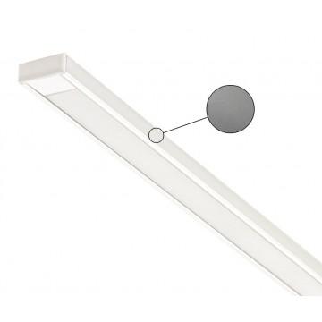 Накладной профиль для светодиодной ленты с рассеивателем Ideal Lux SLOT SURFACE 11 x 1000 mm AL 124124 (SLOT SURFACE 11 x 1000 mm ALUMINUM), алюминий, белый, металл, пластик