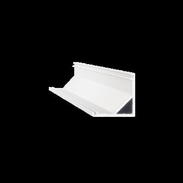 Накладной угловой профиль для светодиодной ленты с рассеивателем Ideal Lux SLOT SURFACE ANGOLO 1000 mm WH 126548 (SLOT SURFACE ANGOLO 1000 mm WHITE), белый, металл, пластик