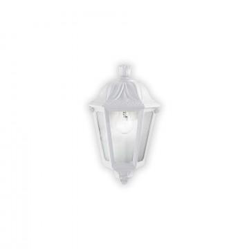 Настенный фонарь Ideal Lux ANNA AP1 SMALL BIANCO 120430, IP44, 1xE27x60W, белый, прозрачный, пластик
