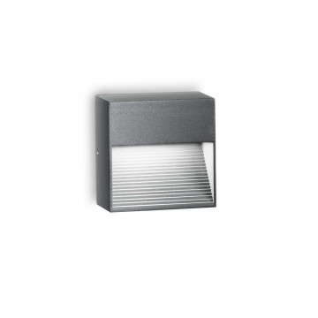 Настенный светильник Ideal Lux DOWN AP1 ANTRACITE 122045, IP44, 1xG9x28W, серый, металл, металл с пластиком, пластик