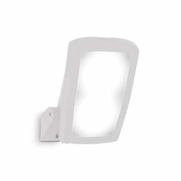 Настенный светильник Ideal Lux GERMANA AP1 BIANCO 120188, IP66, 1xE27x23W, белый, пластик