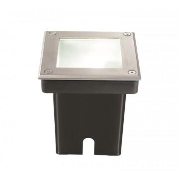 Встраиваемый светильник Ideal Lux PARK PT1 SQUARE 117881, IP65, 1xG9x28W, сталь, металл, пластик, стекло