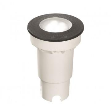 Встраиваемый светильник Ideal Lux CECI ROUND FI1 SMALL 120249, IP67, 1xGU10x4,5W, черный, пластик