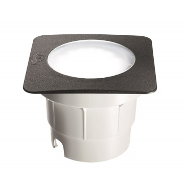 Встраиваемый светильник Ideal Lux CECI SQUARE FI1 BIG 120386, IP67, 1xGX53x10W, черный, пластик