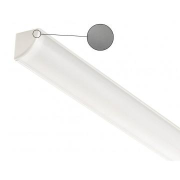 Накладной угловой профиль для светодиодной ленты с рассеивателем Ideal Lux SLOT SURFACE ANGOLO 1000 mm AL 126531 (SLOT SURFACE ANGOLO 1000 mm ALUMINUM), алюминий, белый, металл, пластик