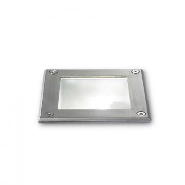 Встраиваемый в уличное покрытие светильник Ideal Lux PARK PT1 SQUARE 117881, IP54, 1xG9x15W, сталь, металл, стекло