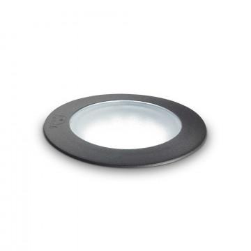 Встраиваемый в уличное покрытие светильник Ideal Lux CECI PT1 ROUND SMALL 120249, IP67, 1xGU10x4,5W, черный, пластик