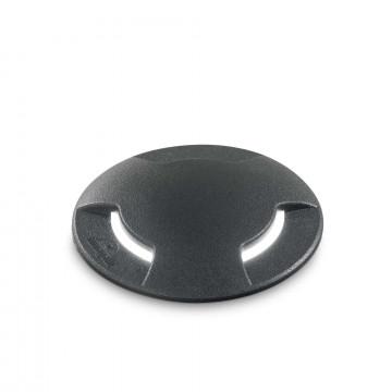 Встраиваемый в уличное покрытие светильник Ideal Lux CECILIA PT1 BIG 120362, IP67, 1xGX53x10W, черный, пластик