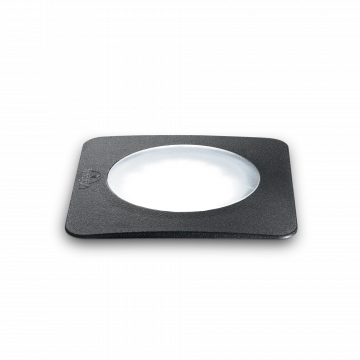 Встраиваемый в уличное покрытие светильник Ideal Lux CECI PT1 SQUARE BIG 120386, IP67, 1xGX53x10W, белый, черный, пластик