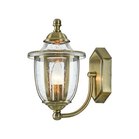 Бра Maytoni Classic House Zeil H356-WL-01-BZ, 1xE14x60W, бронза, прозрачный, металл, металл со стеклом, стекло с металлом