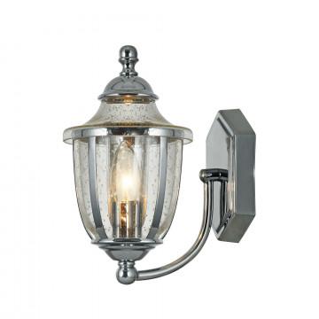 Бра Maytoni Classic House Zeil H356-WL-01-CH, 1xE14x60W, хром, прозрачный, металл, металл со стеклом, стекло с металлом