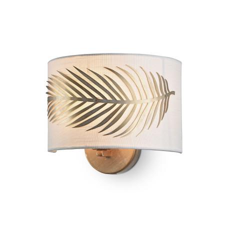 Бра Maytoni Farn H428-WL-01-WG, 1xE14x40W, матовое золото, металл, текстиль
