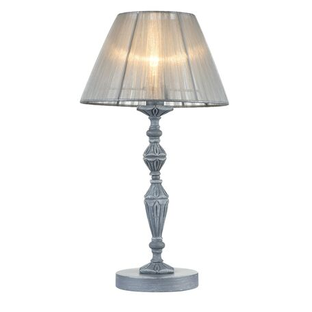 Настольная лампа Maytoni Monsoon ARM154-TL-01-S, 1xE14x40W, серый, металл, текстиль