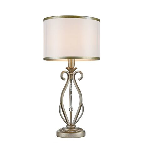 Настольная лампа Maytoni Fiore H235-TL-01-G, 1xE14x40W, матовое золото, прозрачный, металл, текстиль, стекло